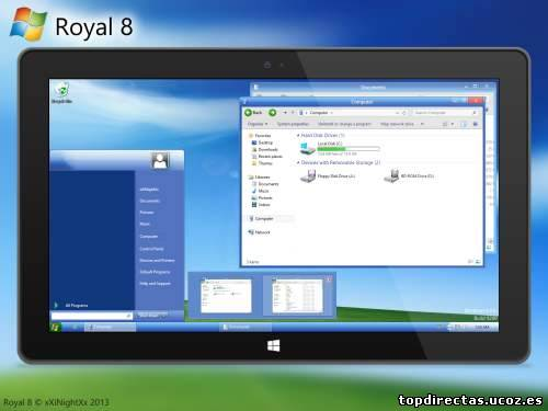 Tema Royale 8 Para Windows 8 y 8.1